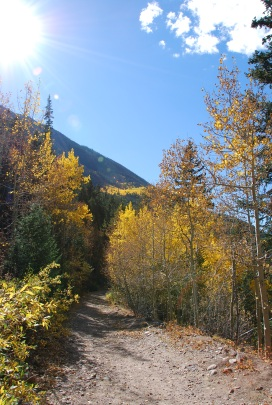 The trail to Pavilion Point, Silver Plume, Colorado